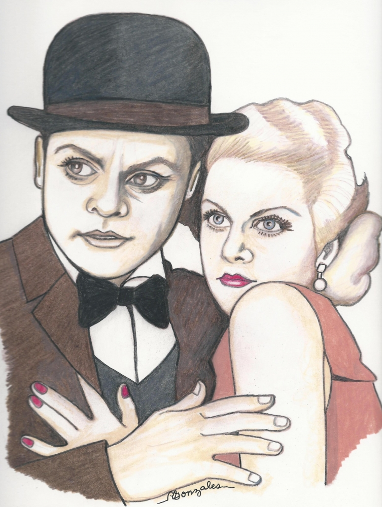Jean Harlow, James Cagney by aaronmark